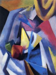 Constructivist Still LIfe - Oil Painting Reproduction On Canvas