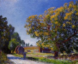 Fields around the Forest - Alfred Sisley Oil Painting