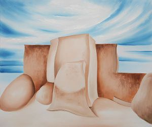 Ranchos Church, New Mexico, 1930-1931 - Georgia O'Keeffe Oil Painting