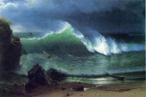 Emerald Sea - Albert Bierstadt Oil Painting