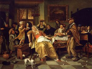 Twelfth Night - Jan Steen oil painting