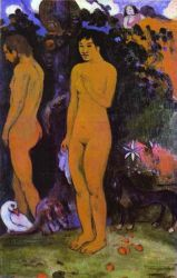 Adam and Eve - Jules Trayer Oil Painting