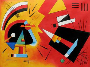 Black and Violet, 1923 - Wassily Kandinsky Oil Painting