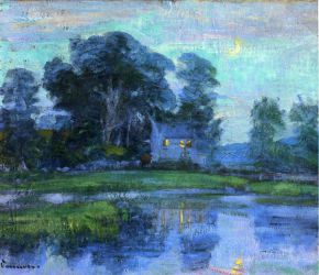 At Eventime - Robert Vonnoh Oil Painting