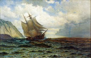 Brigantine off the Lee Shore - William Bradford Oil Painting