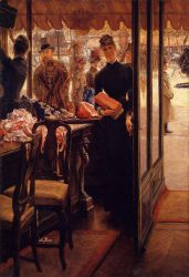 The Shop Girl - James Tissot oil painting