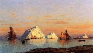 Fishermen off the Coast of Labrador II - William Bradford Oil Painting
