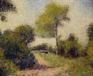 The Hedge -   Georges Seurat Oil Painting