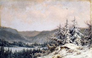 Early Snow - William Mason Brown Oil Painting