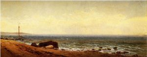 Along the Shore - Alfred Thompson Bricher Oil Painting