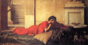 The Remorse of Nero After the Murder of His Mother - John William Waterhouse Oil Painting