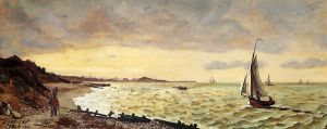 Seascape: The Beach at Sainte-Adresse - Oil Painting Reproduction On Canvas