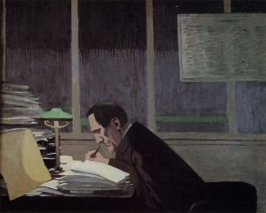 Felix Feneon at the Revue Blanche - Felix Vallotton Oil Painting