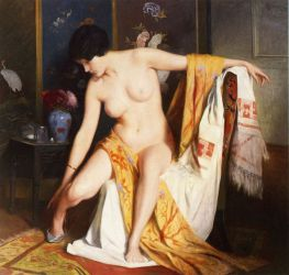 Nude in an Interior - Julius LeBlanc Stewart Oil Painting