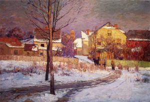 Tinker Place - Theodore Clement Steele Oil Painting