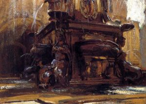Fountain at Bologna - John Singer Sargent Oil Painting