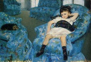 Portrait of a Little Girl - Mary Cassatt Oil Painting