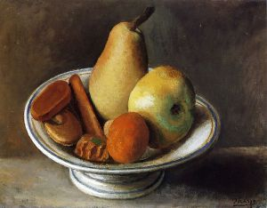 Fruit Bowl with Fruit - Pablo Picasso Oil Painting