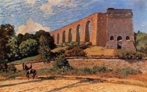 Aqueduct at Marly - Alfred Sisley Oil Painting