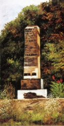 Brick Chimney at the Edge of a Wood, North Carolina - William Aiken Walker Oil Painting