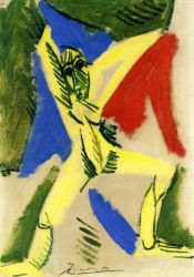 Nude with Drapery (Study for La Grande Danseuse) - Pablo Picasso Oil Painting