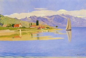 The Port of Pully - Felix Vallotton Oil Painting