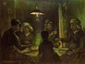 The Potato Eaters V - Vincent Van Gogh Oil Painting
