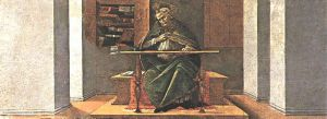 St Augustine in His Cell (San Marco Altarpiece) - Sandro Botticelli oil painting