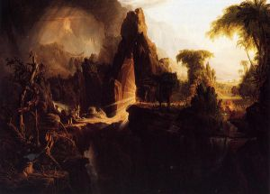 Expulsion from the Garden of Eden - Thomas Cole Oil Painting