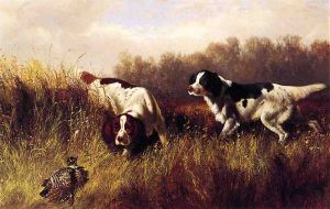 Prarie Shooting: Find Him - Arthur Fitzwilliam Tait Oil Painting