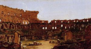Interior of the Colosseum Rome - Thomas Cole Oil Painting