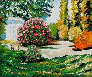 Il Parco Monceau - Claude Monet Oil Painting