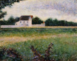 Landscape of the Ile de France - Georges Seurat Oil Painting