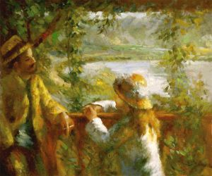 Near the Lake II -  Pierre Auguste Renoir Oil Painting