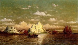 Arctic Harbor - William Bradford Oil Painting