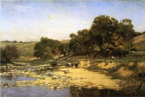 On the Muscatatuck - Theodore Clement Steele Oil Painting