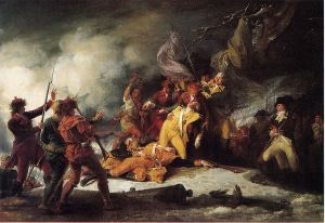 The Death of General Montgomery in the Attack on Quebec, December 31, 1775 - John Trumbull Oil Painting