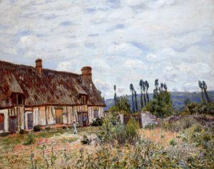 Abandoned Cottage - Alfred Sisley Oil Painting