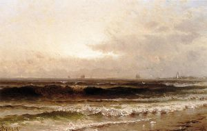 Distant Beacon - Alfred Thompson Bricher Oil Painting
