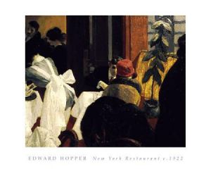 New York Restaurant - Edward Hopper Oil Painting