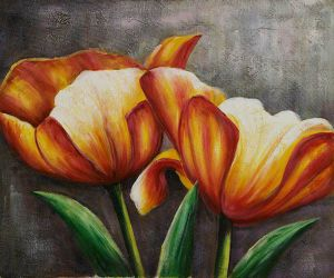 Bavarian Tulips I - Oil Painting Reproduction On Canvas