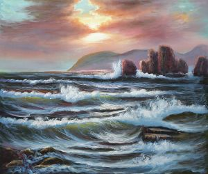 Velvet Sea - Oil Painting Reproduction On Canvas