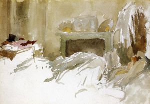 Resting in Bed - James Abbott McNeill Whistler Oil Painting