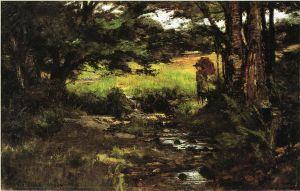 Brook in Woods - Theodore Clement Steele Oil Painting