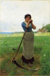 The Peasant Girl - Oil Painting Reproduction On Canvas
