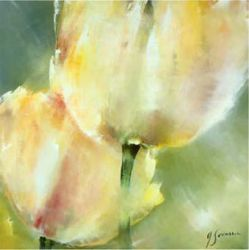 Two yellow tulips - Oil Painting Reproduction On Canvas