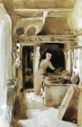 The Kitchen - James Abbott McNeill Whistler Oil Painting