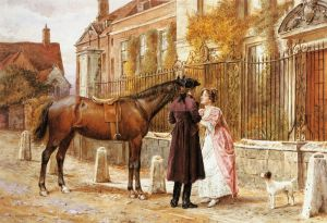 Goodby - George Goodwin Kilburne Oil Painting