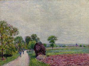 Countryside near Moret - Alfred Sisley Oil Painting