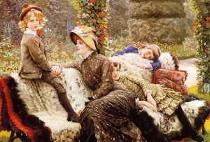 The Garden Bench - Oil Painting Reproduction On Canvas